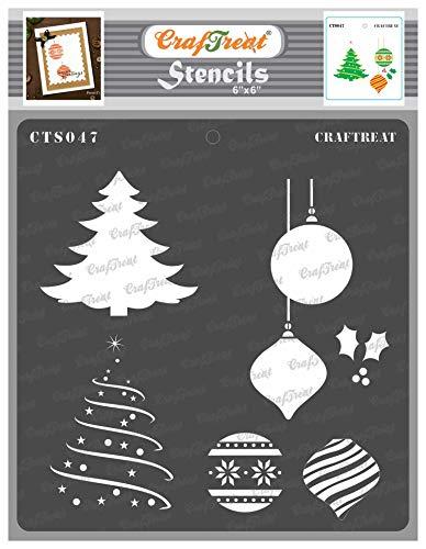 CrafTreat Schablone mit Weihnachtsmotiv, 15,2 x 15,2 cm