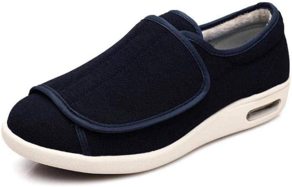 RSVT Calzado OrtopéDico Ajustable para Artritis,Deslizadores Anchos de la Espuma de la Memoria, Zapatos de Las Mujeres del Invierno para el Hallux valgus-40_Azul Claro