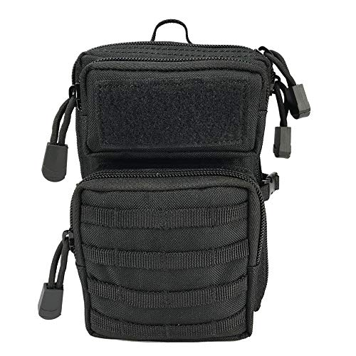 Price comparison product image Livans Tactical Molle Phone Pouch,  EDC Smartphone Pouch Small Gadget Gear Tool Bag Utility Waist Pouches Outdoor Rescue Tools Organizer