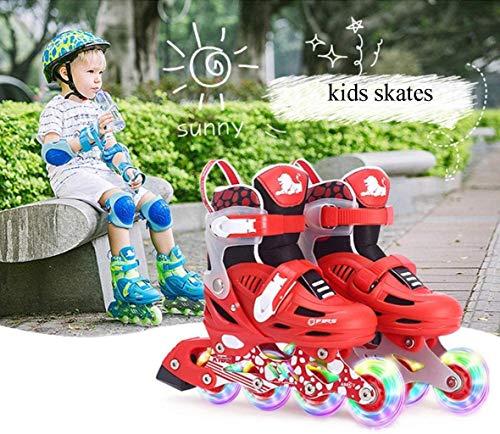 RENYAFEI Los Patines en línea para los Zapatos de los niños en línea Ajustable Zapatos Transpirables cómodos para niños y niñas,VS,Camino