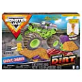 Monster Jam, Grave Digger Monster Dirt Deluxe Set, Featuring 16oz of Monster Dirt and Official 1:64 Scale Die-Cast Monster Jam Truck from Spin Master