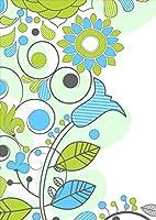igsticker ポスター ウォールステッカー シール式ステッカー 飾り 1030×1456㎜ B0 写真 フォト 壁 インテリア おしゃれ 剥がせる wall sticker poster 005082 フラワー 花 緑 青 イラスト