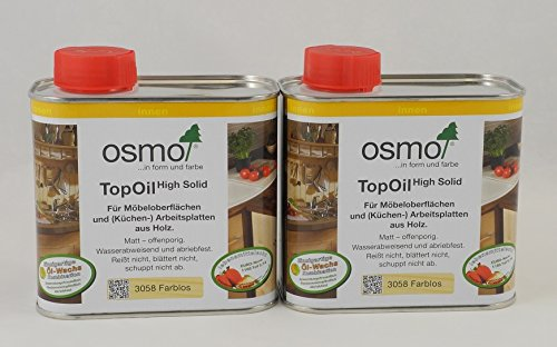 Osmo Spar-Set 2x TopOil farblos 500ml, optimale Oberflächenbehandlung