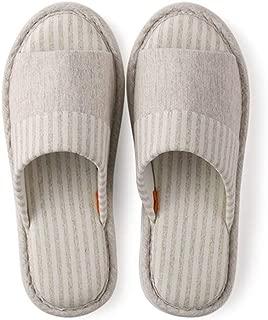 JERPOZ Zapatillas De Casa Interiores Algodón Transpirable Zapatillas De Casa con Piso Transpirable Algodón Lavable Zapatillas De Casa Antideslizantes Zapatillas de algodón (Color : E, Size : 43-44)