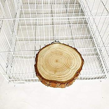CAOQAO Oiseau Cage Accessoires Pet Ronde en Bois Coin Sauter Plate-Forme Bird Parrot Support Playground éLéGante Perruche Gerbille Rat Souris Chinchilla Hamster Cage Accessoires