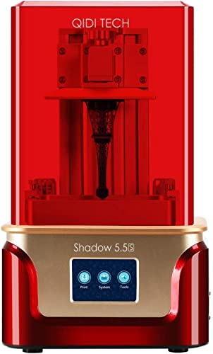 QIDI TECH Shadow 5.5 S 3D Printer, UV LCD Resin Printer with Dual Z axis Liner Rail, 3.5 Inch Touch Screen,Build Size...