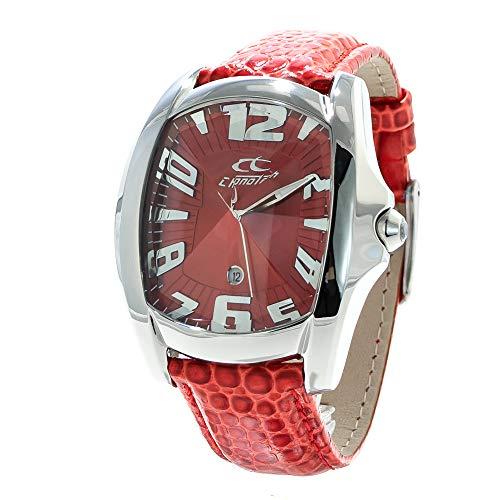 Chronotech Herren Analog Quarz Uhr mit Leder Armband CT7988M-04