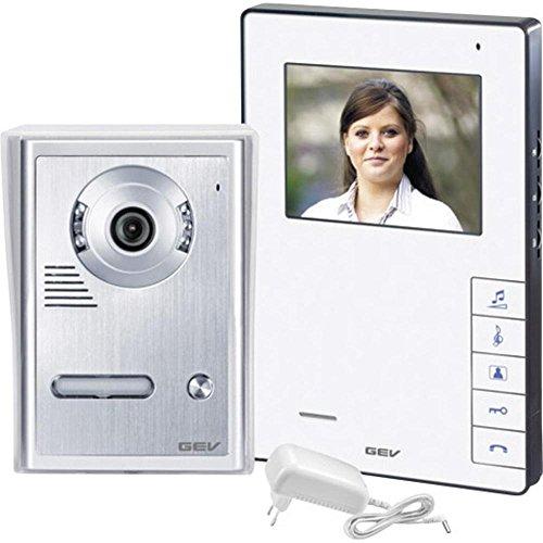 GEV 1-Familienhaus Video Türsprechanlage CVB 88320, 230 V, Silber Weiss