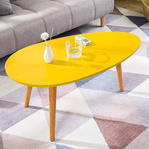 HLZZK Triganle End Tables Moderne Table D'appoint Minimaliste Table Basse Jaune Rond Table Gigogne Côté Côté Table d'extrémité for Salon Balcon Table Basse en Bois Anti-Scartch Super Shinning Surface