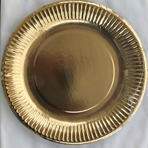 Heku 209-24 Partyteller 10 Pappteller ø 23cm Uni Gold