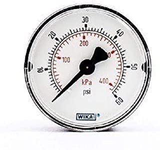 9690684 Analogue Positive Press Gauge Back Entry 60psi; Connection Size 1/4 NPT, Pack of 2