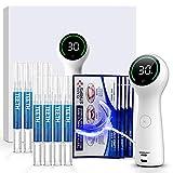 SENSOLOGY Teeth Whitening Kit, 6V Led Light Teeth Whitener, 35% Carbamide Peroxide, (8) 3ml Gel Syringes, Mouth Tray-Built in 7 Types Timer