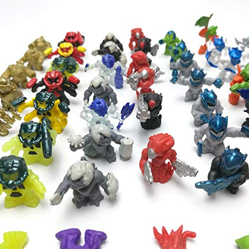 weichuang Accesorios Ornaments 100pcs Interstellare Monster Armet Robot Star Wars Micro Paisaje Ornamental Móvil Muñeca Alien Muñeca Juguetes