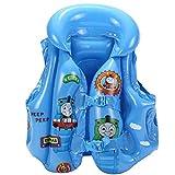 YUESEN Thomas Float Vest for Kid, Thomas Inflatable Snorkel Vest Portable Inflatable Floatage Vest Thomas Swimming Float Vest Safety Jacket for Child (Blue)