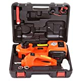 12V Electric Car Jack, 5.0T(11000lb) All-in-one Automatic Floor Jack Kit, Car Jack Hydraulic with Impact Wrench Repair Tool for Sedan, SUV Lift Tire Change