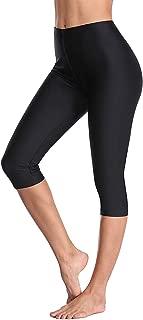 Anwell Women's Long Swim Shorts Swim Pants Capris UPF 50+ Water Outdoor Sport Leggings