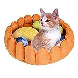 Roblue Hunde Katzen Nest Hundehöhle Katzenhöhle Obst Torte Form Katzenbett Hundebett Haustier Matte