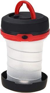 LEDGLE LEDキャンプライト LEDランタン 3つの照明モード 懐中電灯 電池式 IP44防水 折りたたみ式 キャンプ バーベキュー 夜釣りや狩猟 停電時 災害時などに最適 (レッド)