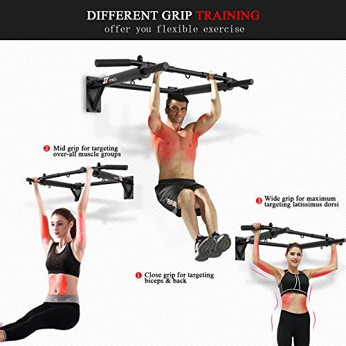 JX FITNESS Barras de Dominadas Pared, Wall Pull Up Bar Barra de Tracción, Boxeo TRX Entrenamiento y Resistencia Training, Multifuncional Workout Bar