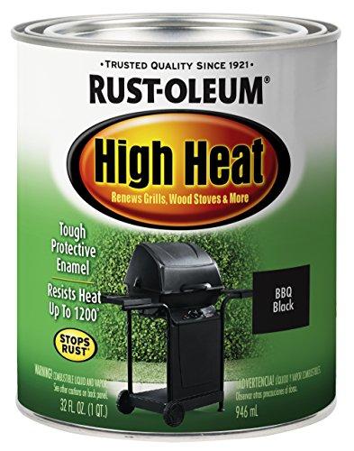 Rust-Oleum 7778502 Heat Protective Enamel, Quart 32-Ounce, Bar-B-Que Black