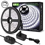 LE Striscia LED 5M 300LED SMD2835 Dimmerabile, 18W 1200lm Luce Nastro Luminoso Bianco Fred...
