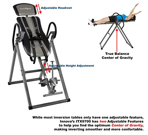 Innova Health and Fitness ITX9800 Inversion Therapy Table with Ankle Relief and Safety Features