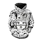 ZRYY Chaqueta con Capucha Jersey para Sudadera con Capucha con Estampado para Hombre Y Mujer Sudadera Tímida Divertida 3D Manga Streetwear Pullover Harajuku-Jersey A_4XL