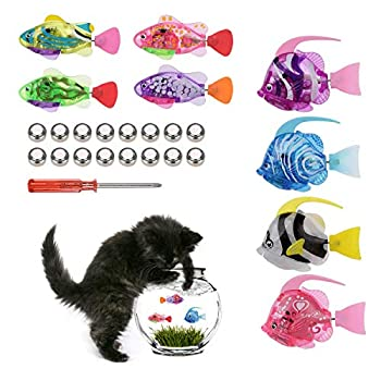 MEWTOGO 8 Pack Swimming Robot Fish Toy-Moving Interactive Fish Toys Wiggle Fish Catnip Toys for Cats and Kids