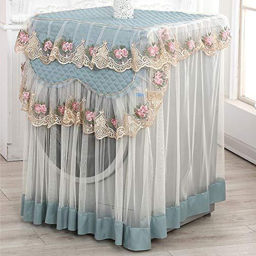 Waschmaschinen-Staubschutz mit Spitzenrand, wasserdicht, UV-Schutz, Trockner-Abdeckung, passend für Outdoor-Oberlader und Frontlader, grün