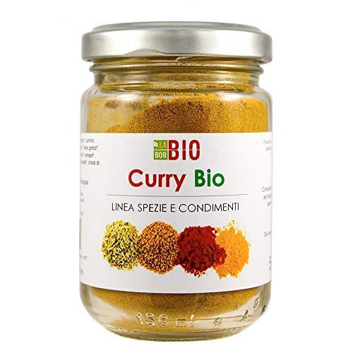 Curry Bio senza sale 50 g - Condimento Cucina Speziata Carni Pesce Verdure Riso - Vasetto vetro LaborBio