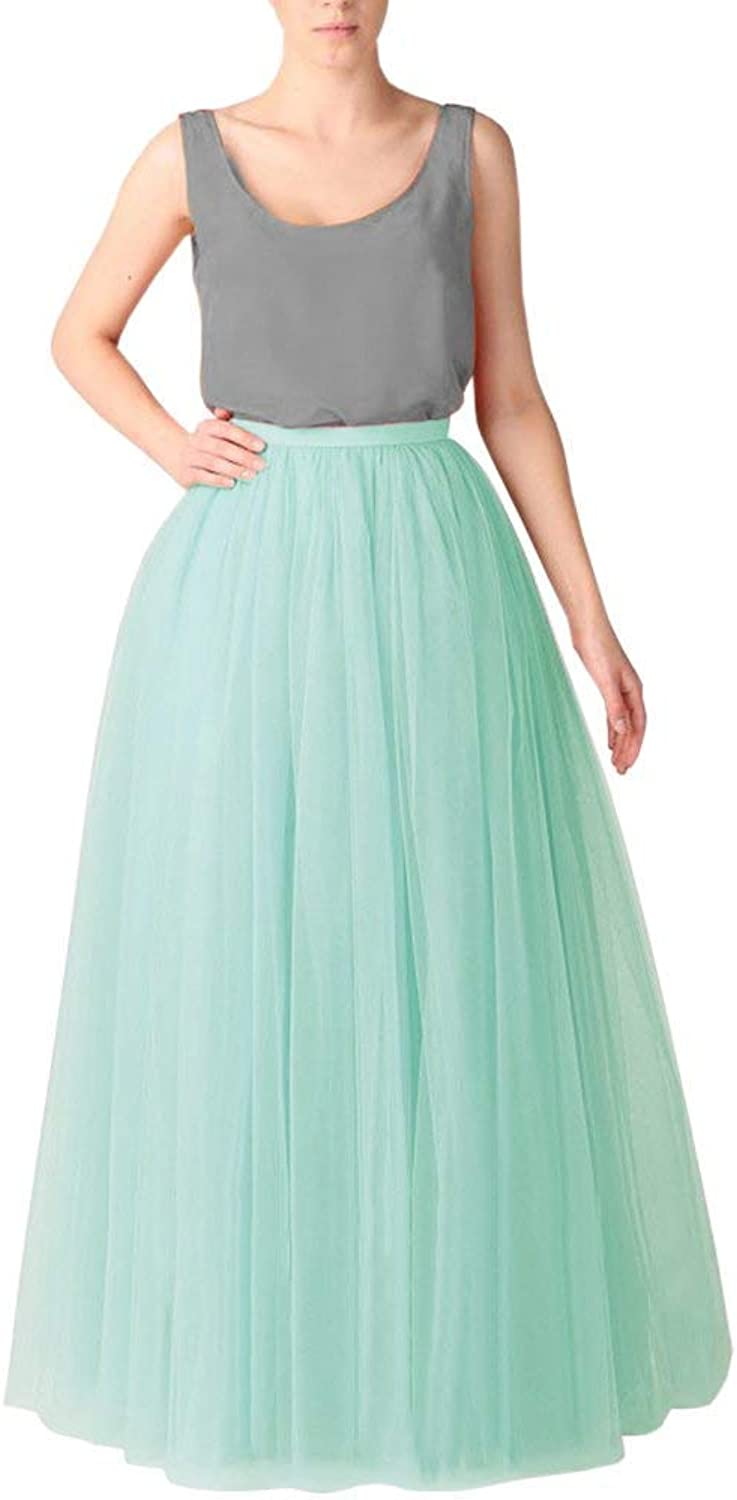 Cibelle Women's Long Tutu Tulle Skirt A Line Floor Length Skirts fot Prom Party