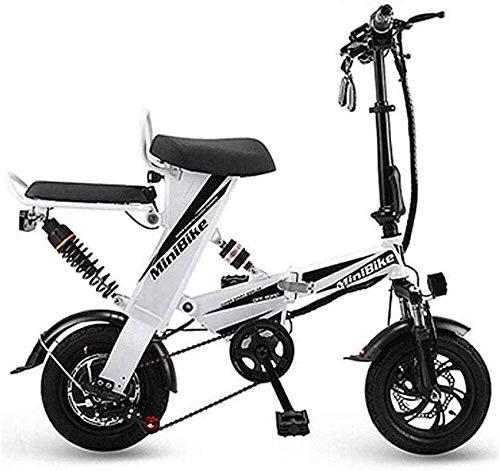 RDJM Bici electrica Bicicletas eléctricas rápidas for Adultos Bicicleta Plegable eléctrica, Velocidad...