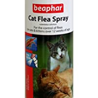 Beaphar Cat Flea Spray with silent action for the control of fleas on cats and kittens over 12 weeks of age It consists of a cutaneous spray solution which controls fleas on your cat. Size: 150ml KILLS FLEAS Silent Action 150ml