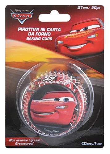 Unbekannt Cars Lightning McQueen Cupcake-Förmchen, 50 Stück Lizenzprodukt.