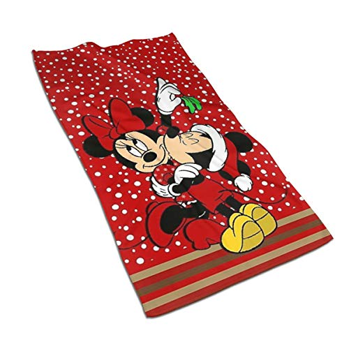 MOANDJI Hand Towels - Micky Mouse and Minnie Xmas Soft and Absorbent Luxury Towel Ideal for Daily Use 27.5' X 17.5'