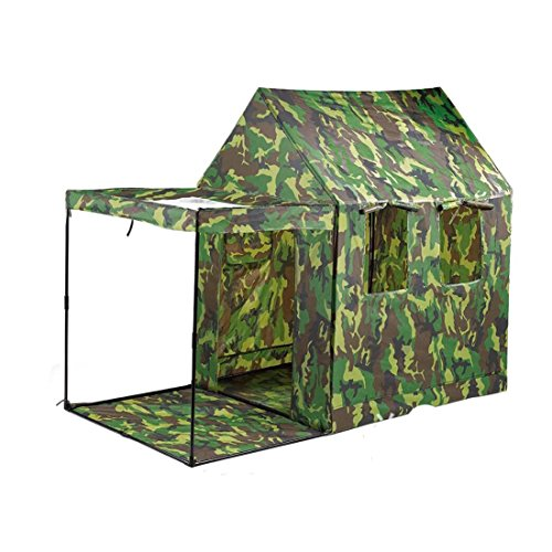 Hi Suyi Kids Children Camouflage Marching Play Tent Pop Up Playhouse Military Game Toy For Indoor Outdoor