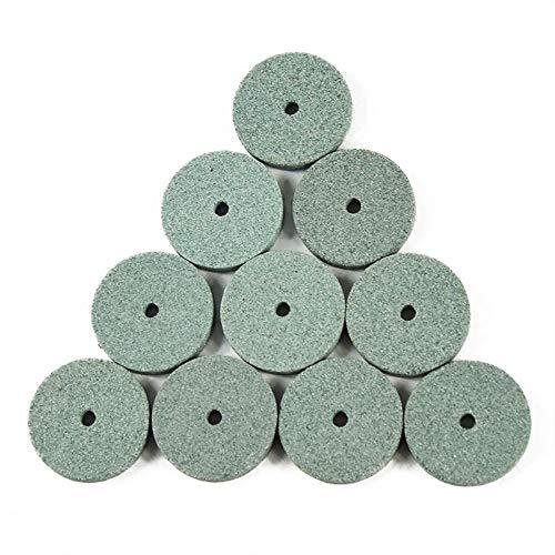 Calidad superior Rueda de molienda 10 PCS Hoja de piedra de pulido de óxido de aluminio verde para herramientas rotativas para eliminar óxido, desbarbado, (Color : Green)