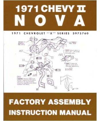 1971 Chevrolet Nova Assembly Manual Book Rebuild Instructions Illustrations OEM