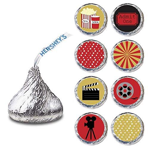 Adorebynat Party Decorations - EU Filmabendlabel für Hershey's Kisses® Schokoladen - Bitte mit dem Film Candy Sticker Feiern - Set von 240