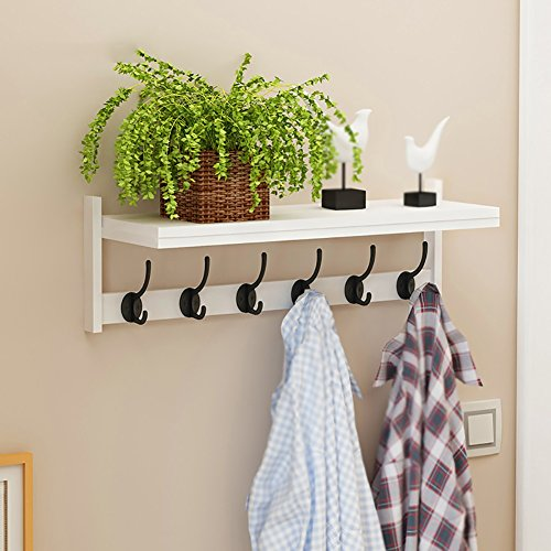 Percheros Recibidor de Pared Entrada Sala de Estar Dormitorio Corredor Multifunción Simple Estante Moderno (Color : Blanco)
