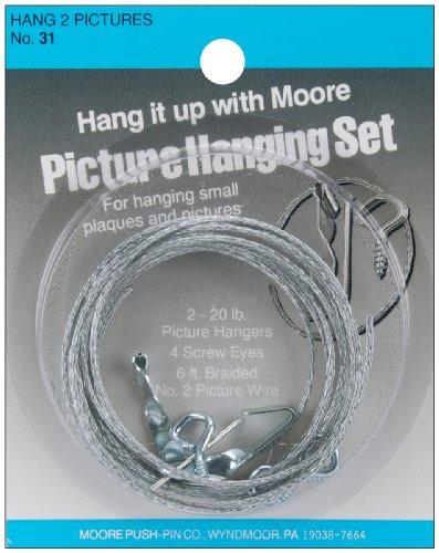 Moore Push Pin Bilder-Aufhänge-Set