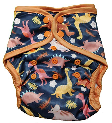 Green Diapers InfiniT AIO Overnight Cloth Diaper(One Size Fits 5-15 Kgs) (Diapasaurus)