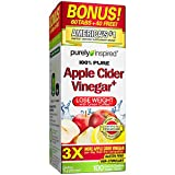 Purely Inspired Apple Cider Vinegar + Green Coffee Extract, Supplements Weight Loss, 100 Capsules (Packaging May Vary)