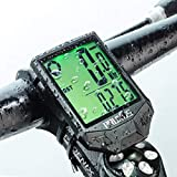 PRUNUS Bike Speedometer and Odometer Wireless Waterproof Bicycle Computer with Touch Sensor Switch, Big Digital LCD Screen, Automatic Wake-up for Outdoor MTB Road Cycling and Fitness
