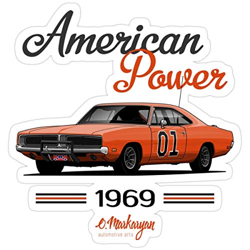 Stickers Charger 69 General Lee Backpack Books Decals Bag (3 Pcs/Pack) 3x4 Inch