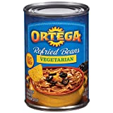 Ortega Refried Beans, Vegetarian, 16 Ounce (Pack of 12)