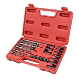 25pc Screw extractor drill & guide set remove broken screws bolts fasteners easy out