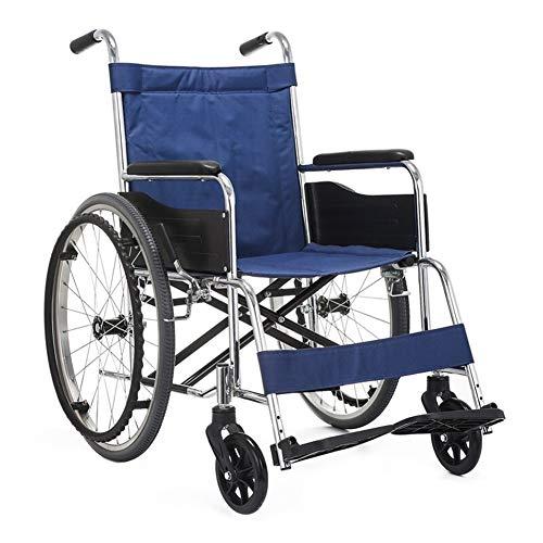 Jia He Rollstuhl Rollstuhl Vollgummireifen Kompakt und leicht Medizinische Haushaltsklapprollstühle Ältere Wagen (Color : A)