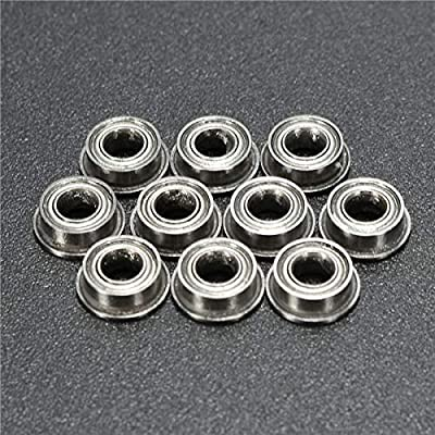 RENCALO 10pcs MF63ZZ 3x6x2.5mm doppelt geschirmtes Flanschkugellager