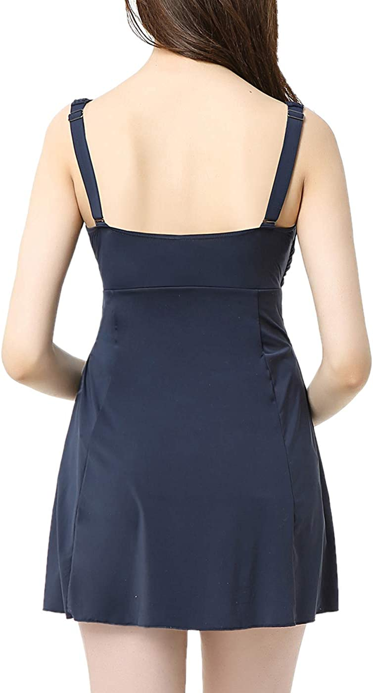 Regular /& Plus Size Momo Maternity Bathing Suit UPF 50 One Piece Swimdress Womens Maternity Swimwear Pregnancy Swimsuit